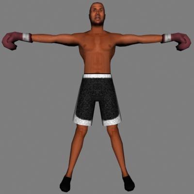 3d model human male boxer