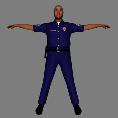 3ds max human male police