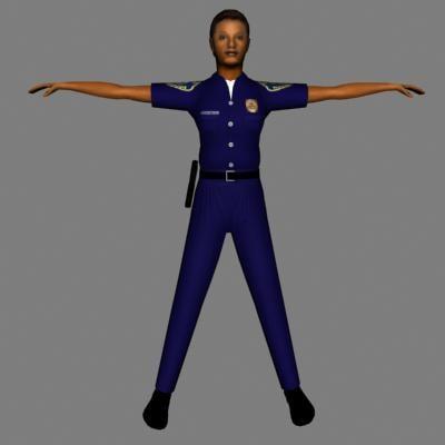 human police 3d model