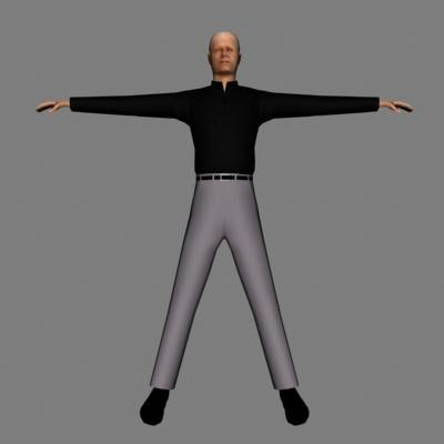 3d character human male
