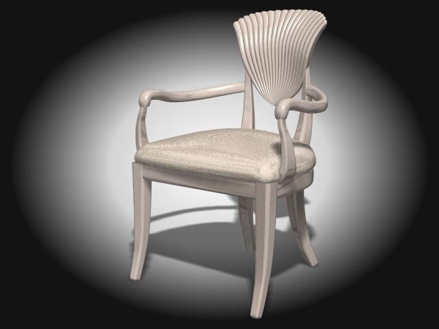 3ds max antique chair