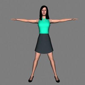 3d model human woman