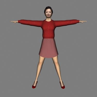 3d model of human woman
