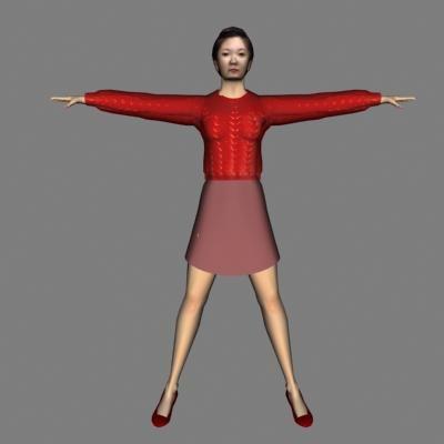human woman 3d 3ds