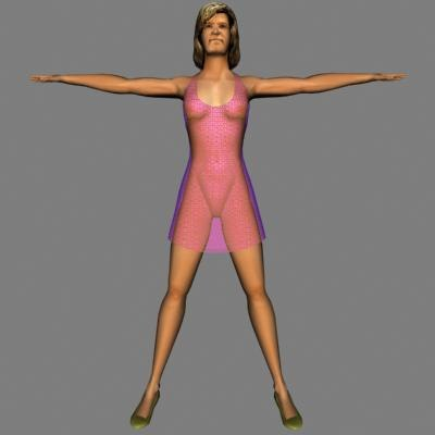 3ds max human woman female