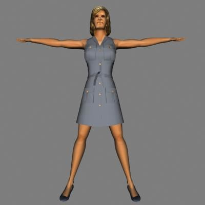 3d human woman female model