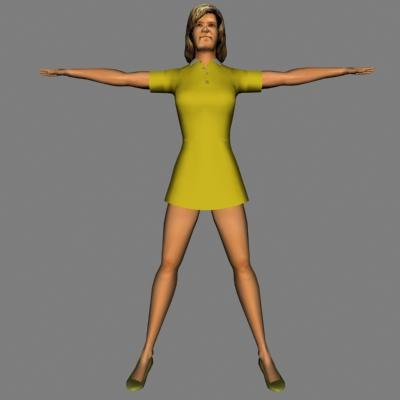 human woman female 3d model