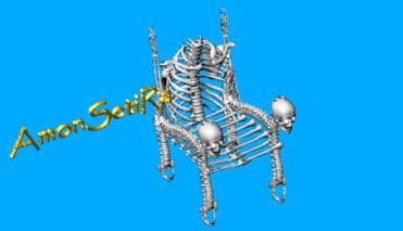 3d bone chair model