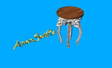 bone chair 3d model