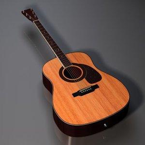 alvarez accoustic guitar 3d model