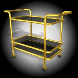 free 3ds model furniture trolly