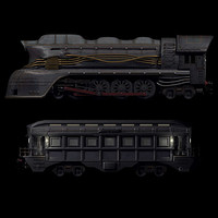 locomotive carriage 3d model