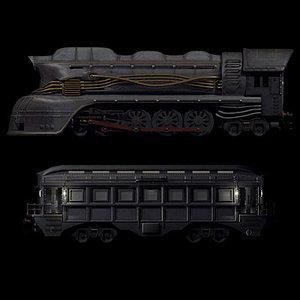 locomotive carriage 3d model