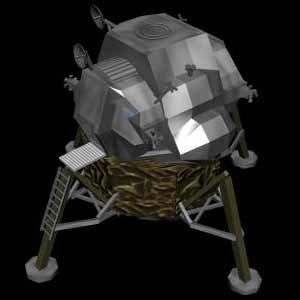 moon lander lunar module 3d model