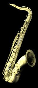 3d model saxophone