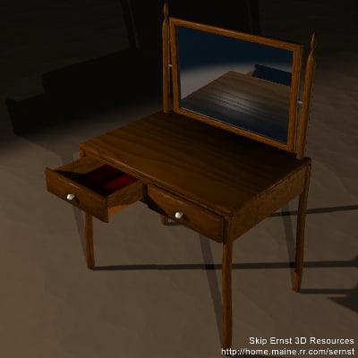3d vanity drawer scene