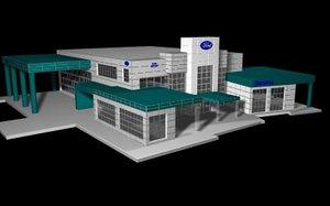 3d model auto dealership