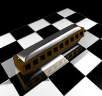 mouth organ harmonica 3d model
