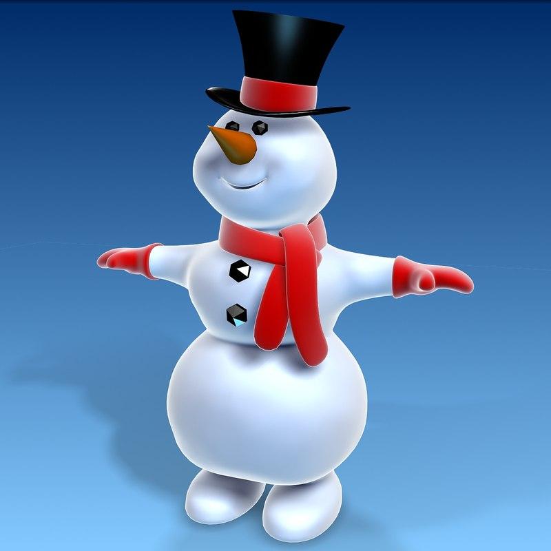 3d snowman model