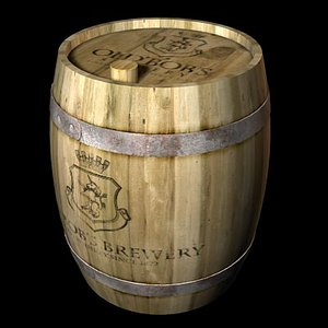 wine cask 3d max