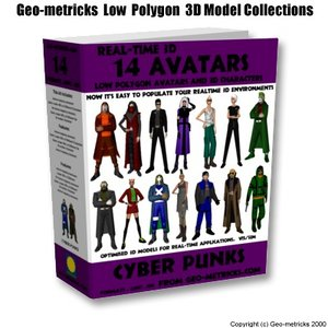 3d 14 avatars characters