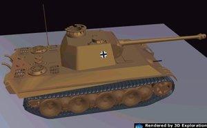 v panther 3d model