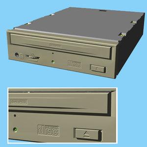 3d model cd-rom drive