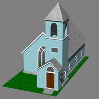 modern church 3d model