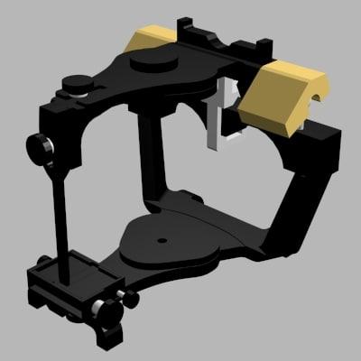 denar dental articulator 3d model