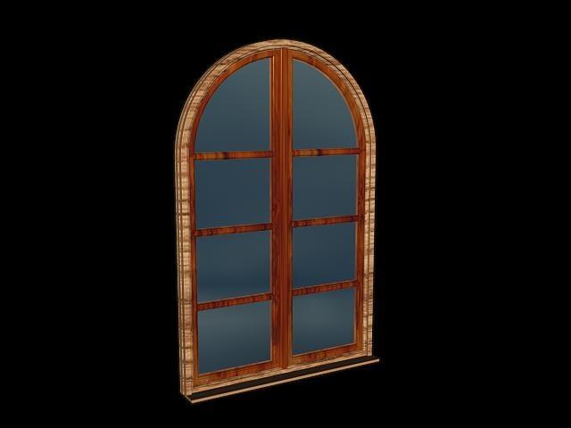 3d model half window
