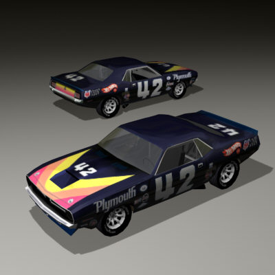 plymouth cuda 3d model