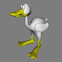 duck cartoon bird 3d model