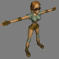 woman human female 3d 3ds