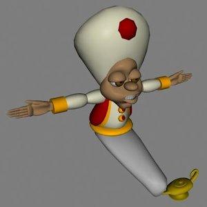 arabian genie male 3d model