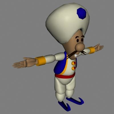 3ds max arabian genie character