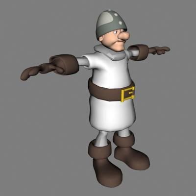 knight soldier human 3d model