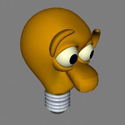 3ds bulb cartoon
