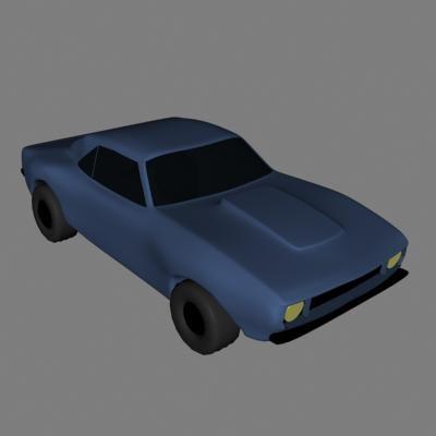 3dsmax blue vehicle