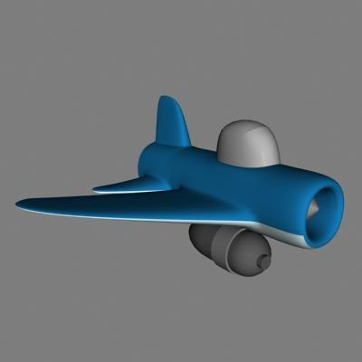 bomber 3d model