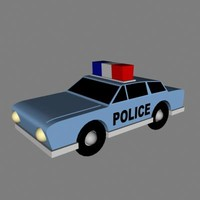 3ds police car