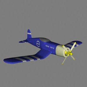 3d fighter plane model