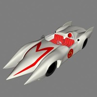 3ds cartoon racer car