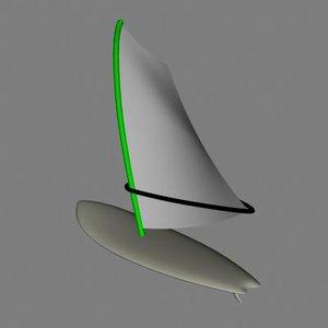 3d model surfboard