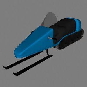 snowmoblie 3d model