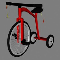 3d child tricycle model