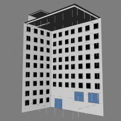 skyscraper building housing 3d model