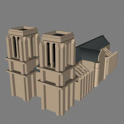 3d dxf religous church cathedral