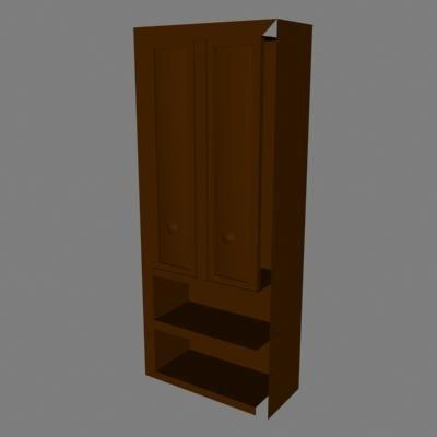 3d model storage wood