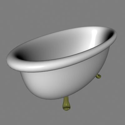 3ds max bathtub