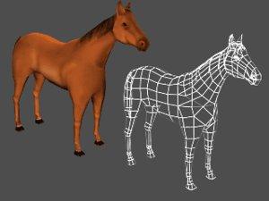 horse 3d max